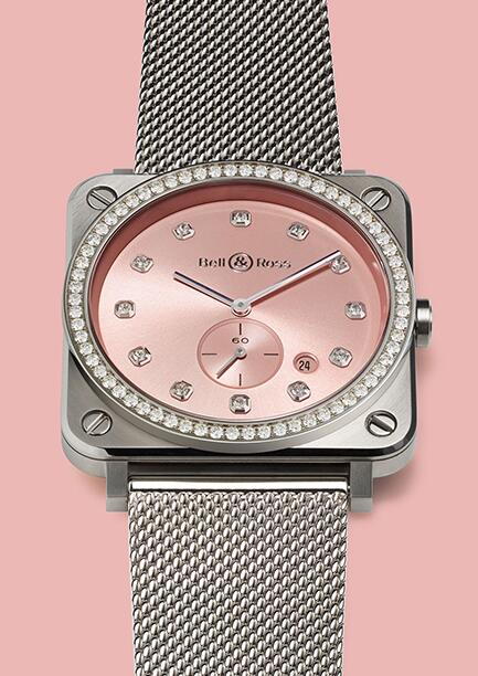 Quadranti Rosa Copia Orologi Bell Ross BR S Novarosa Full Diamonds