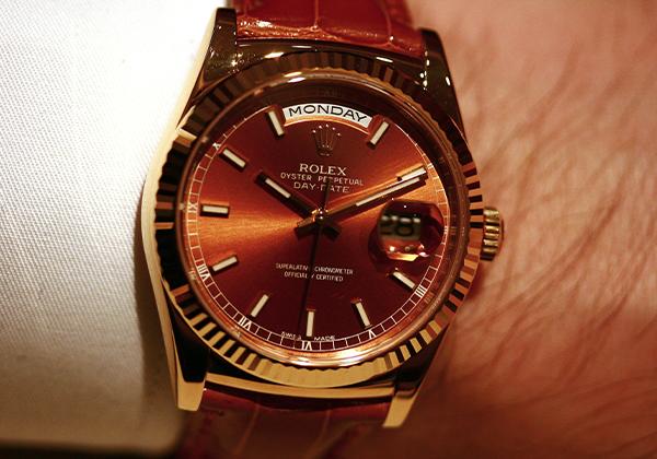 Replica Rolex Day-Data Con Cinturino in Pelle
